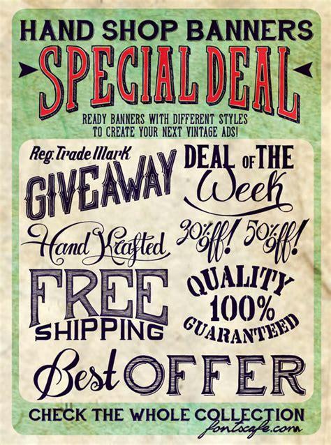 typography banner shop handmade vintage font packs by fontscafe