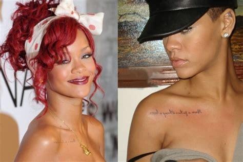 tattoo inspiration rihanna tattoo demon celeb 2011 tattoos