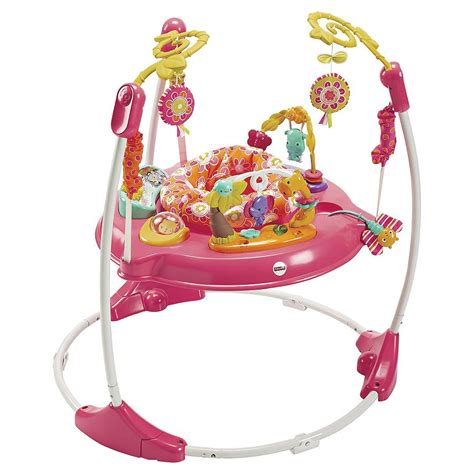 Baby Jumper Pink fisher price petals jumperoo baby activity centre bouncer pink a ebay