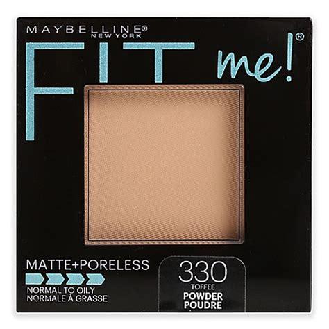 Maybelline Fit Me Poreless Powder maybelline 174 fit me 174 matte poreless powder in toffee www bedbathandbeyond