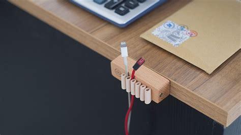 Cable Desk Organizer Wooden Desktop Cable Organizer 187 Gadget Flow