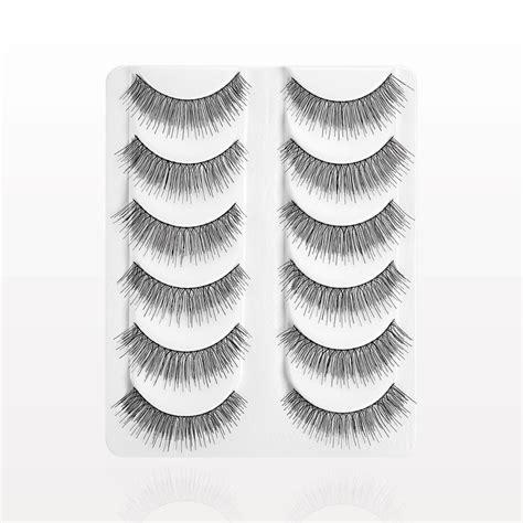 Set Of 5 False Lashes qosmedix wispy false eyelashes black value set