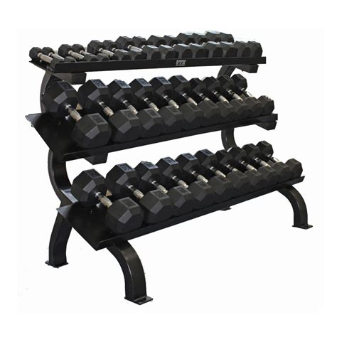 Dumbbell Rack With Weights by Troy Barbell 3 Tier Shelf Dumbbell Rack
