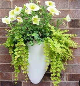 wall mounted fibreglass half conical planters for gardens