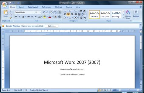 Microsoft Word 2007 an introduction to microsoft word