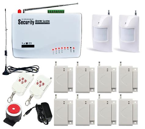 wireless home office house security burglar gsm alarm
