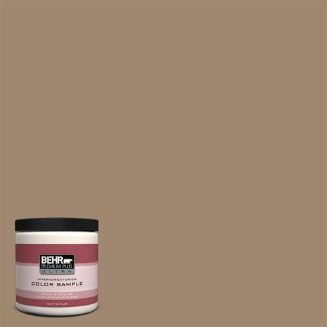 behr premium plus ultra 8 oz 700d 5 toffee crunch interior exterior paint sle 700d 5u the