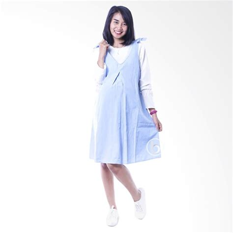Dress Anak Biru Pita jual dro 843 dress overall pita manis