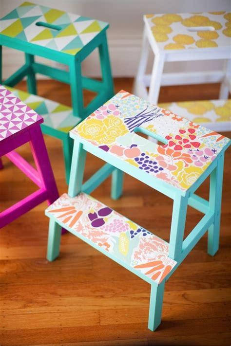 bekva m step stool 27 diy ways to decorate your boring ikea products designbump