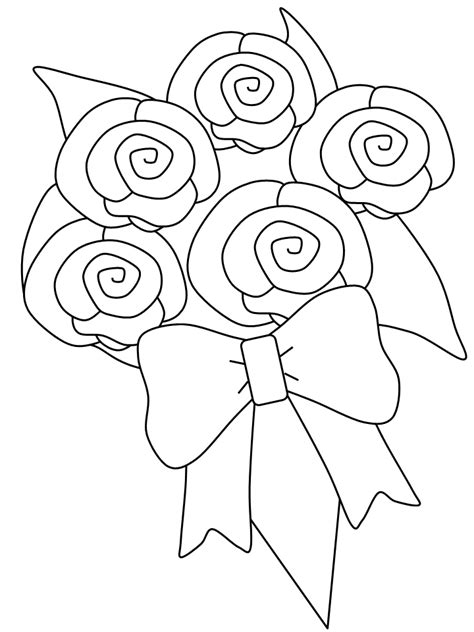 coloring pages of bouquet of flowers flower bouquet coloring pages coloring home