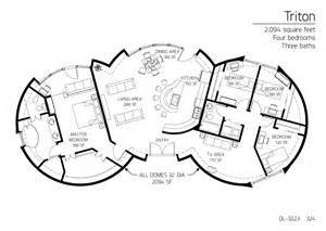 Monolithic Dome Home Floor Plans Floor Plan Dl 3223 Monolithic Dome Institute