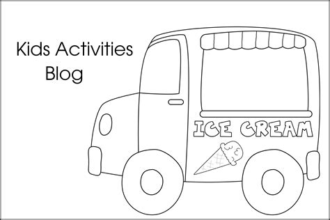 ice cream truck coloring page ice cream coloring pages free printable