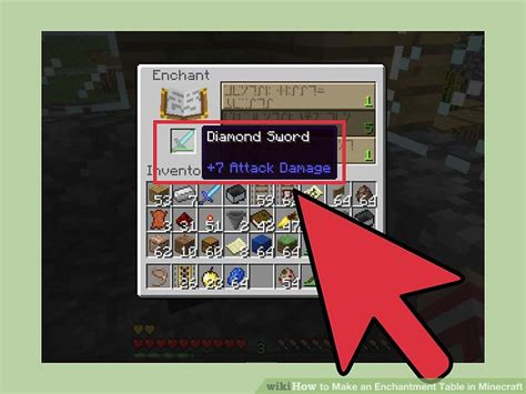 How To Build An Enchantment Table by How To Make An Enchantment Table In Minecraft 12 Steps