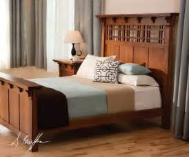 craftsman style headboard mission style bed frame plans free woodworking projects