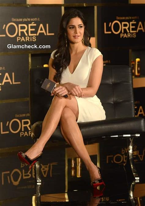 katrina kaif  tom ford white dress  loreal paris event