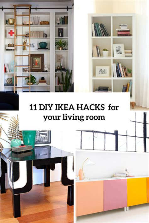 desk for your room 11 diy ikea hacks for your living room cover ikea hack