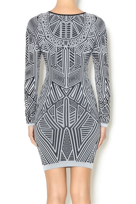 Lovely Printed Bodycon Dress 40079 seams lovely sleeve bodycon dress from new jersey by