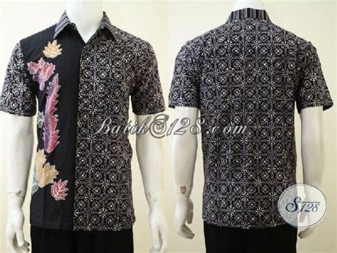 desain baju batik unik sedia busana batik pria dengan motif desain terbaru yang