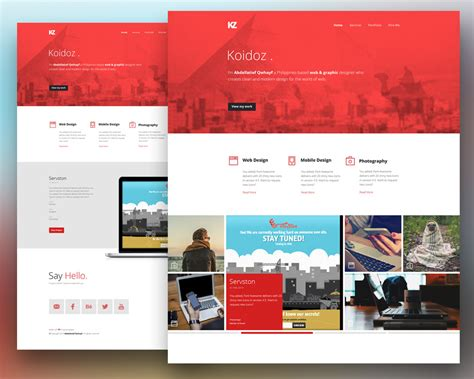 psd templates for photoshop creative personal website template free psd download