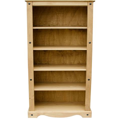 discount solid wood bookcases corona tall bookcase large display unit solid mexican pine