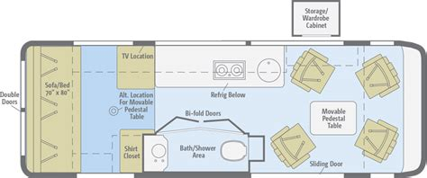 class b floor plans era floorplans winnebago rvs