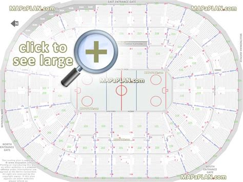 number of sections in an ice hockey rink moda center rose garden arena seat row numbers