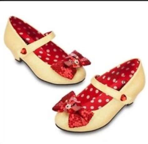 minnie mouse shoe slippers disney store minnie mouse shoes yellow sparkle slippers 7