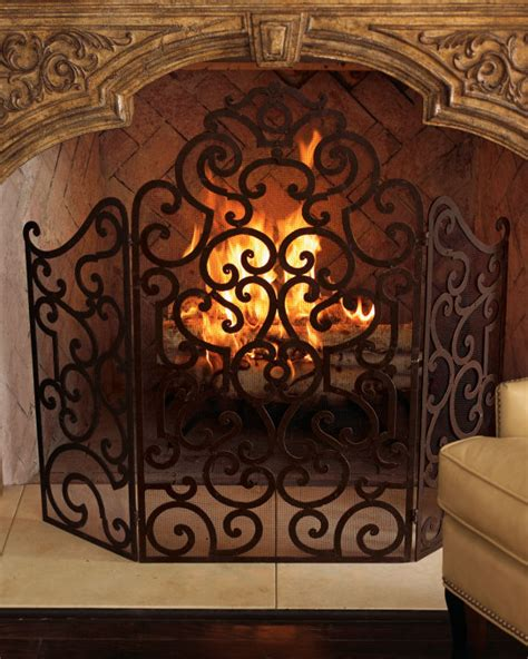 Ornate Fireplace Screens by Glam Up Your Home With An Ornate Fireplace Screen