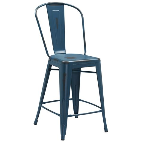 Outdoor Bar Stools With Backs by Style Distressed Indoor Outdoor Counter Stool With