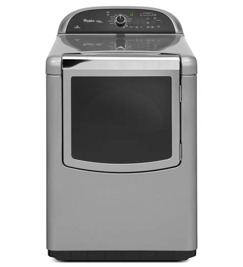 whirlpool 174 cabrio 174 platinum 7 6 cu ft he dryer with steam enhanced cycles wed8900bc chrome