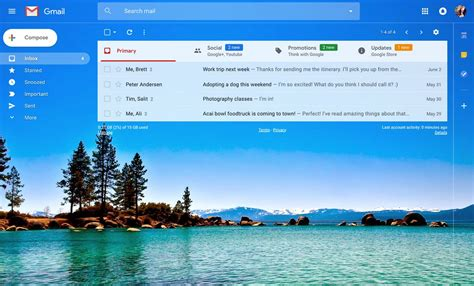 themes for google inbox gmail