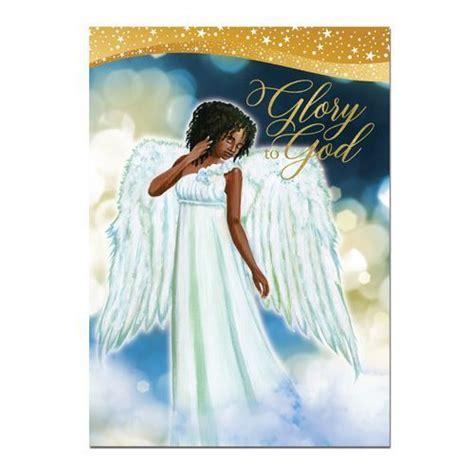 niyaecom glory  god african american angel christmas card