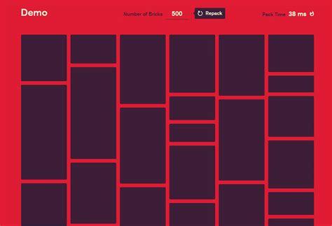 grid layout masonry create fast masonry grid layouts with bricks js organic