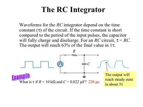 rc integrator circuit rc and rl differentiator and integrator circuit