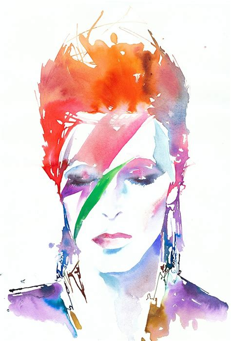 david bowie by cate parr fashion passion illustration