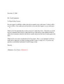 Sample letter of bad credit explanation qsbtzwfu