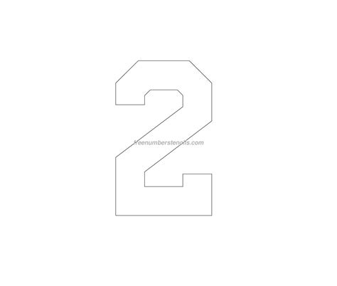 number 2 template free football 2 number stencil freenumberstencils