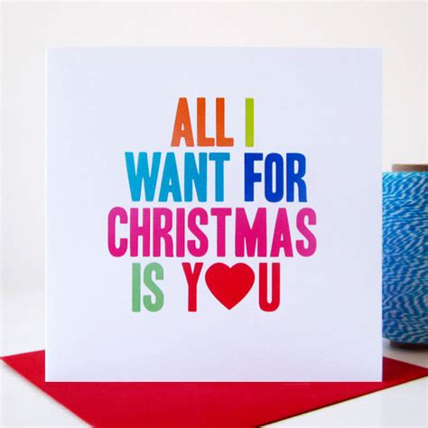 All I Want For It by All I Want For Is You Card By Mrs L