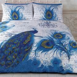 Wash Feather Duvet Peacock Quilt Doona Duvet Cover Set Bedding Bird Peafowl