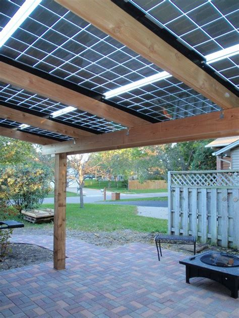 Solar Panel Patio by 17 Best Images About Diy Gazebo On Solar Shades And Solar Panels