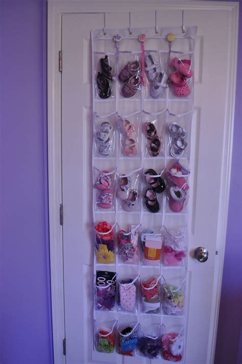 The Door Plastic Shoe Rack by Great Way To Organize Baby Shoes Headbands And