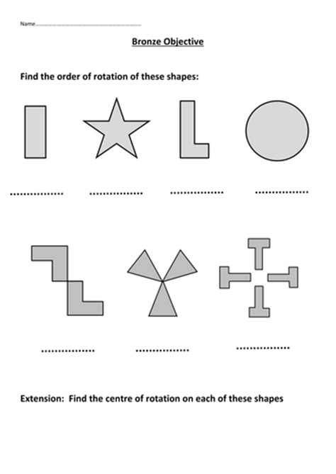 Rotational Symmetry Worksheets by Rotational Symmetry By Mattsteel87 Teaching Resources Tes