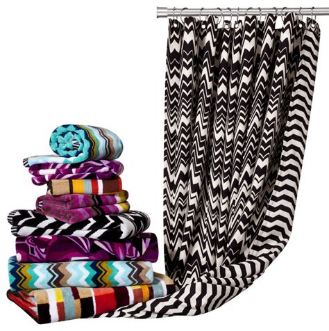 missoni shower curtain missoni for target 174 hand and bath towels shower curtain