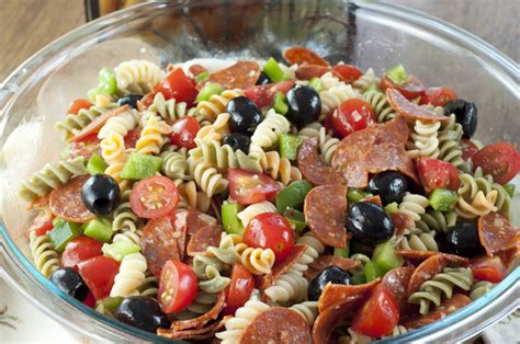 pasta salad recipes pasta salad with pepperoni and salami