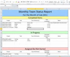 Project Status Report Template Excel monthly project status report template light color