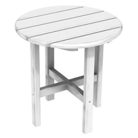 white patio side table 18 quot recycled earth outdoor patio side table
