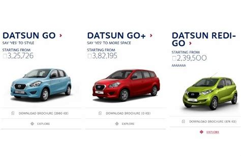 datsun redi go prices to start from rs 2 39 lakh