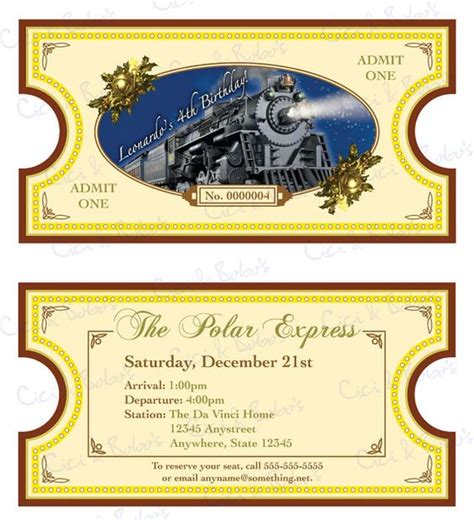 printable version of polar express polar express theme invitation diy printable by