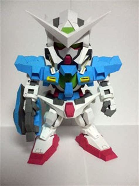 Gundam Exia Papercraft - sd gundam exia r2 papercraft photos paperkraft net