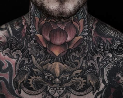 full neck tattoos lotus neck search tattoos